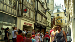 Le Gros Horloge - The Big Clock (8) - Rouen France Stock Footage