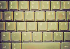 Stock Photo of retro look computer keyboard