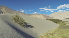 Hundar sand dunes Nubra valley time lapse Ladakh India Stock Footage