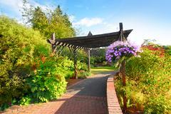 beautiful garden in the park - stock photo