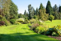 Beautiful garden in the park Stock Photos