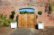 Stock Photo of wooden gate