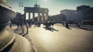 Stock Video Footage of Brandenburg Gate - Berlin At Sunset