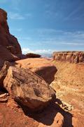 Red desert, canyonlands national park, utah, usa Stock Photos