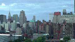 New York 171 Manhattan, Shoreline West Side, Hudson River, Chrysler Building Stock Footage