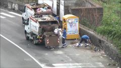 Garbage trucks timelapse, Stock Footage