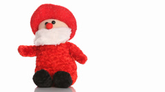 Santa Claus puppet with christmas song Stock Footage