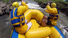 White river rafting near Clarens - stock footage