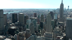 New York 209 Manhattan, Top of the Rock Observation Deck, View South-East Stock Footage