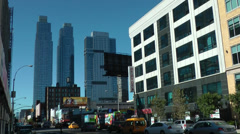 New York 183 Manhattan, 11th Avenue with Traffic and Silver Towers Stock Footage