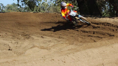 MOTOCROSS COLORFUL EXTREME DIRT BIKE SUPERCROSS RIDER HD - stock footage