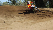 Stock Video Footage of MOTOCROSS COLORFUL EXTREME DIRT BIKE SUPERCROSS RIDER HD