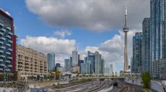 Time-lapse video of Toronto skyline Stock Footage