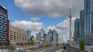 Stock Video Footage of Time-lapse video of Toronto skyline