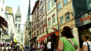 Stock Video Footage of Rue du Gros-Horloge (3) - Rouen France
