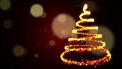 Golden Tree Flourish Stock Footage