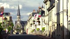 Montoire-sur-le-Loir (1) France Stock Footage