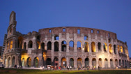 Stock Video Footage of Evening shot of Rome's Colosseum 2