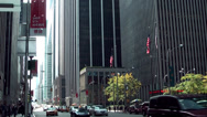 Stock Video Footage of New York 092HD Manhattan, Urban Canyon, 5th Avenue with Traffic