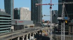 Toronto Construction and highway. Timelapse. Stock Footage