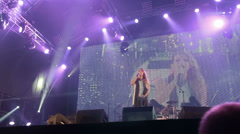 Guano Apes live performance at the rock festival The Best City.UA - stock footage