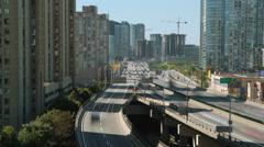 Toronto Gardiner Expressway. Timelapse. Stock Footage