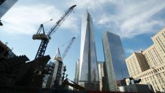 Freedom tower former World Trade Center site - stock footage