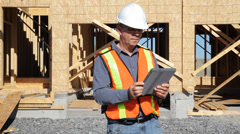 Construction Surveyor Stock Footage