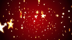 Falling Stars on Red Background - stock footage