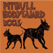 pit bull bodyguard dog vector art - stock illustration