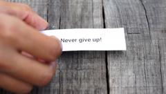 Never give up Stock Footage