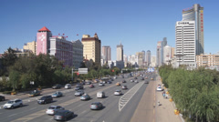 Harbin 08 Hong Jun Jie traffic Stock Footage