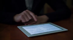Young Man Using E-Reader - stock footage