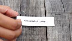 Get started today Stock Footage