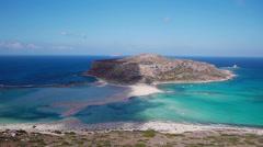 View of the lagoon Ballos(Balos) Stock Footage