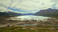 Alaska's Matanuska Glacier Time Lapse Wide Stock Footage