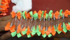 Piercing at Phuket Vegetarian Festival - stock footage