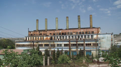 Abandoned factory Stock Footage