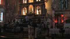 Inside San Pedro church Before the 7,2 magnitude quake at Loboc in Bohol - stock footage