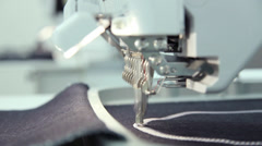 Computerized embroidery machine - stock footage