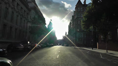 Kensington London 1 handheld Stock Footage