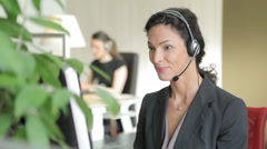 Talking Call Center Worker Stock Footage
