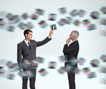 Businessmen working together Stock Illustration