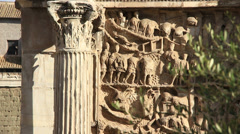 Roman Forum - Arch of Septimius Severus 2 Stock Footage