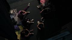 Ballerinas behind the scenes Stock Footage