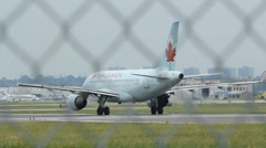Air Canada Jet. Stock Footage