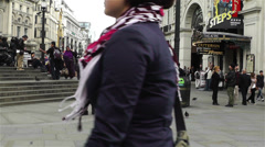 Piccadily Circus London 5 Stock Footage
