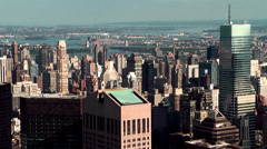 "New York 078HD Manhattan, Panoramic View ""Top of the Rock"" Rockefeller C. Stock Footage"
