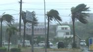 Stock Video Footage of Hurricane Bears Down On City Strong Winds