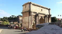 Roman Forum - Arch of Septimius Severus 9 - stock footage